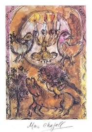 1059: MARC CHAGALL SIGNED COLOR LITHOGRAPH