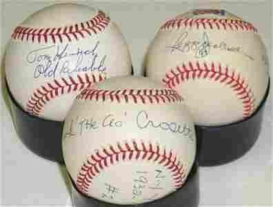 1084: NY YANKEE GREATS BASEBALLS SIGNED ARCHIVE-PSA/DNA