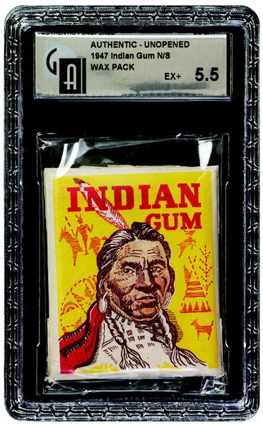 2: 1947 GOUDEY INDIAN GUM UNOPENED WAX PACK