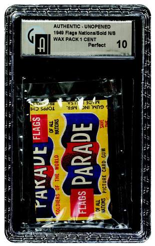 5: 1949 TOPPS PARADE UNOPENED 1 CENT WAX PACK