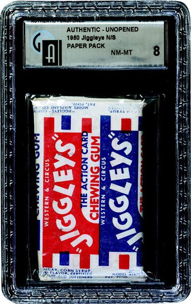 6: 1950 MODEL AIRPLANE CO. JIGGLEY'S LARGE GUM PACK
