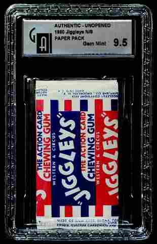 7: 1950 MODEL AIRPLANE CO. JIGGLEY'S SMALL GUM PACK