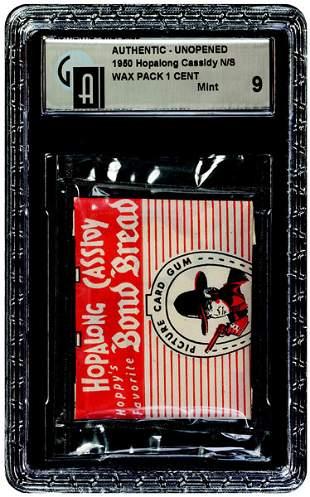 11: 1950 TOPPS HOPALONG CASSIDY BOND BREAD WAX PACK