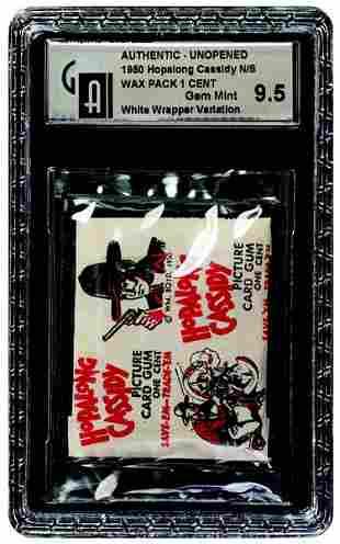 14: 1950 TOPPS HOPALONG CASSIDY 1 CENT WHITE WAX PACK