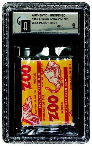 18: 1951 TOPPS ZOO ANIMALS UNOPENED 1 CENT WAX PACK