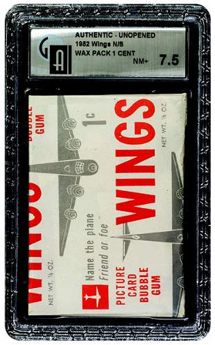 19: 1952 TOPPS WINGS UNOPENED 1 CENT WAX PACK