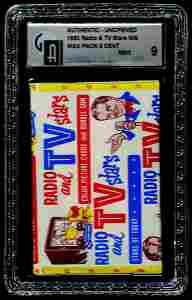 24: 1953 BOWMAN TV & RADIO STARS UNOPENED 5 CENT PACK