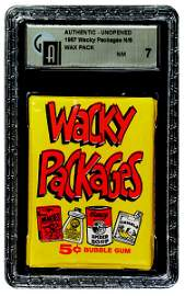 180: 1967 TOPPS WACKY PACKAGES UNOPENED 5 CENT WAX PACK