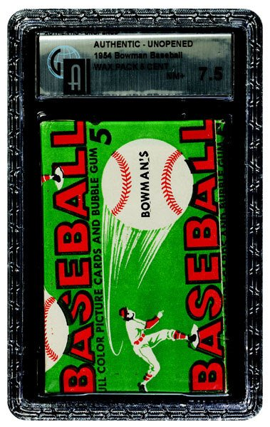 228: 1954 BOWMAN BASEBALL UNOPENED 5 CENT WAX PACK