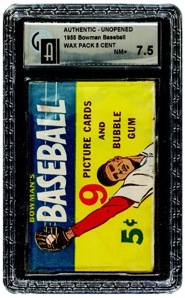 230: 1955 BOWMAN BASEBALL UNOPENED 5 CENT WAX PACK