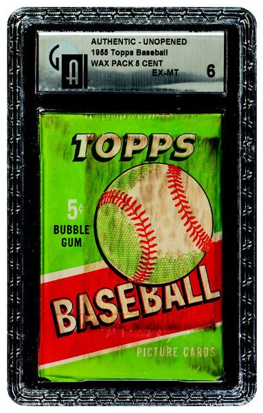 231: 1955 TOPPS BASEBALL UNOPENED 5 CENT WAX PACK