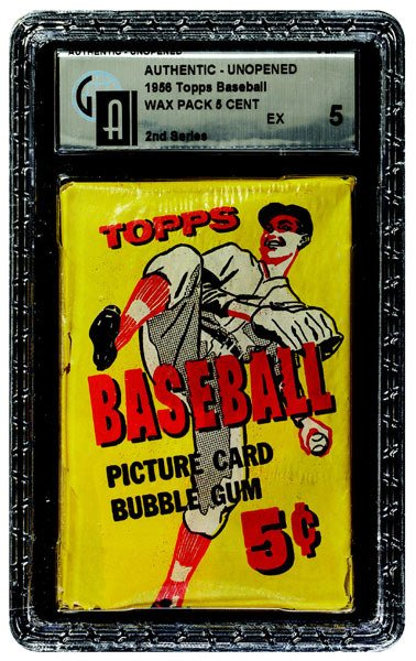 233: 1956 TOPPS BASEBALL 2ND SERIES 5 CENT WAX PACK