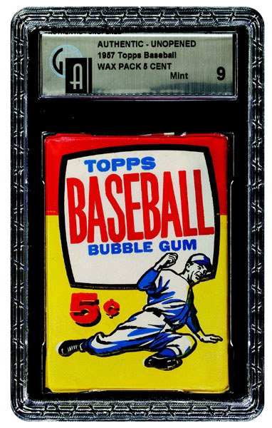 236: 1957 TOPPS BASEBALL UNOPENED 5 CENT WAX PACK