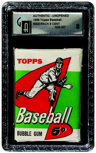 237: 1958 TOPPS BASEBALL 5TH SERIES 5 CENT WAX PACK