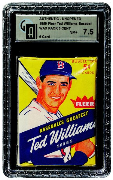 238: 1959 FLEER BASEBALL TED WILLIAMS 5 CENT WAX PACK