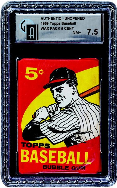 239: 1959 TOPPS BASEBALL 1ST SERIES 5 CENT WAX PACK