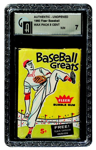 242: 1960 FLEER BASEBALL UNOPENED 5 CENT WAX PACK