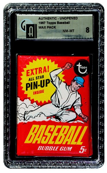 271: 1967 TOPPS BASEBALL PIN-UP VARIATION 5 CENT PACK