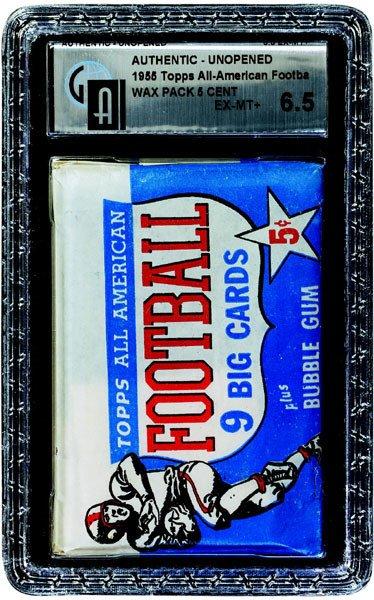 308: 1955 TOPPS FOOTBALL ALL-AMERICAN 5 CENT WAX PACK