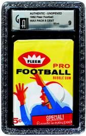 327: 1962 FLEER FOOTBALL UNOPENED 5 CENT WAX PACK