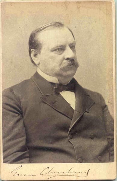 505: PRES. GROVER CLEVELAND CABINET CARD PHOTO SIGNED