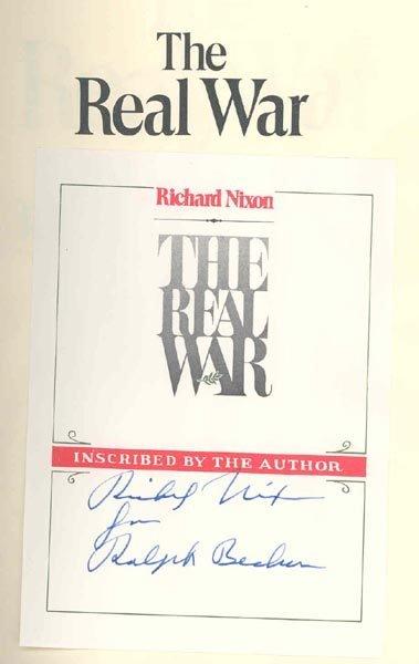 "509: PRESIDENT RICHARD NIXON SIGNED BOOK - ""REAL WAR"""
