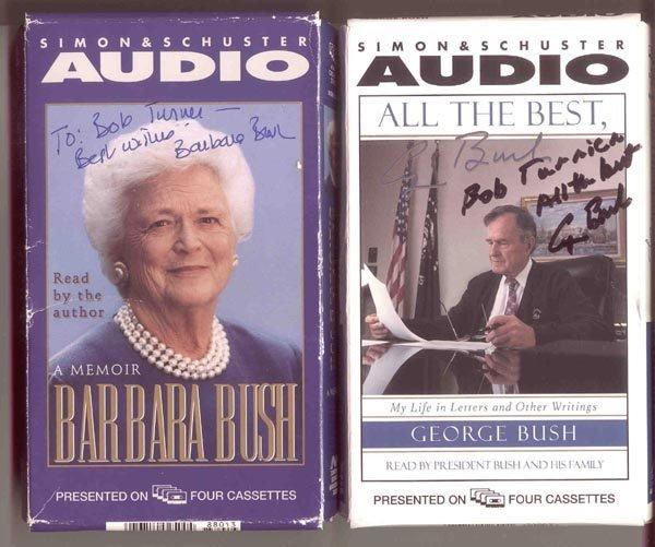 514: GEORGE & BARBARA BUSH SIGNED AUDIO BOOKS ARCHIVE