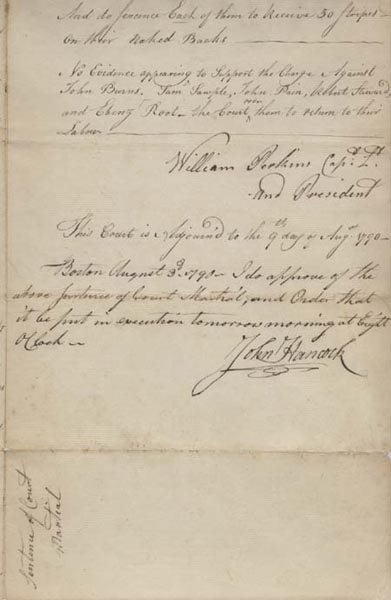5: JOHN HANCOCK DOCUMENT SIGNED AS GOVERNOR OF MASS
