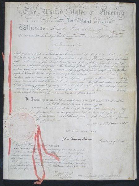 12: JAMES MONROE & JOHN QUINCY ADAMS DOCUMENT SIGNED