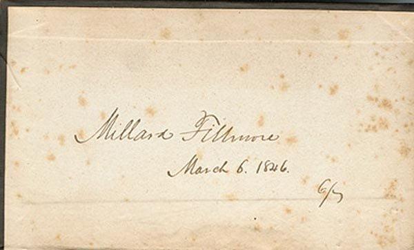 24: MILLARD FILLMORE BOOK SIGNED - PRESIDENT