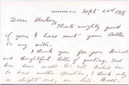 35: THEODORE ROOSEVELT AUTOGRAPH LETTER SIGNED