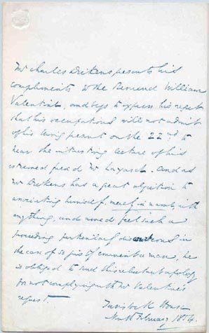 514: CHARLES DICKENS AUTOGRAPH LETTER SIGNED - AUTHOR