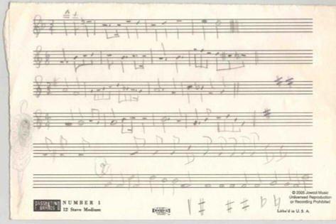 512: JOHN COLTRANE AUTOGRAPH MUSICAL QUOTE