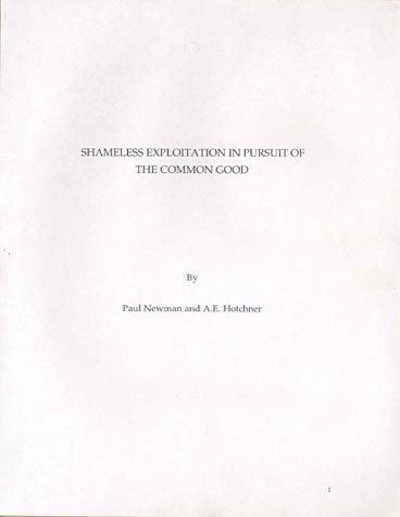 508: (PAUL NEWMAN) & (A.E. HOTCHNER) MANUSCRIPT
