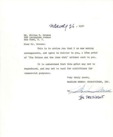 505: MARILYN MONROE DOCUMENT SIGNED - ACTRESS
