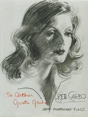 500: GRETA GARBO SIGNED PORTRAIT - ACTRESS