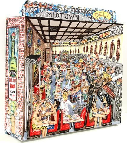 """502: RED GROOMS SIGNED LTD. ED. 3-D LITHOGRAPH - """"DELI"""""""
