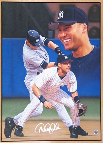 1000: D. JETER SIGNED ORIGINAL DANNY DAY PAINTING - PSA