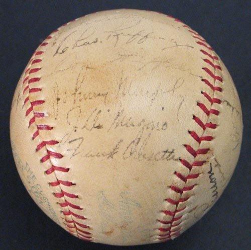 1002: 1937 WORLD CHAMPION YANKEES TEAM SIGNED BALL -PSA - 3
