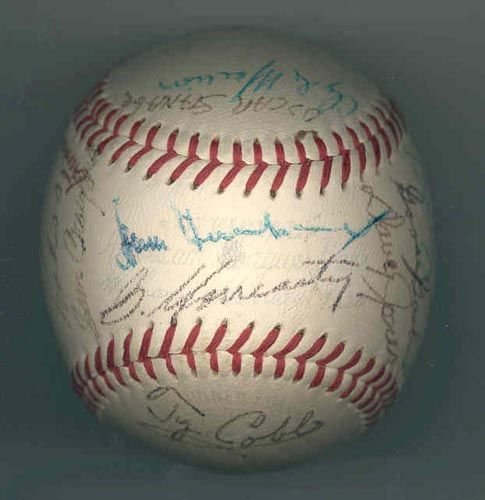 1006: DETROIT TIGERS GREATS SIGNED  BALL -  PSA/DNA