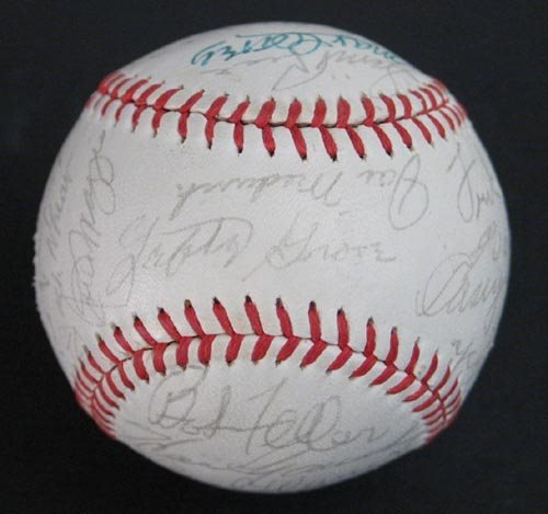 1007: HALL OF FAMERS SIGNED OFFICIAL NL BALL - PSA/DNA