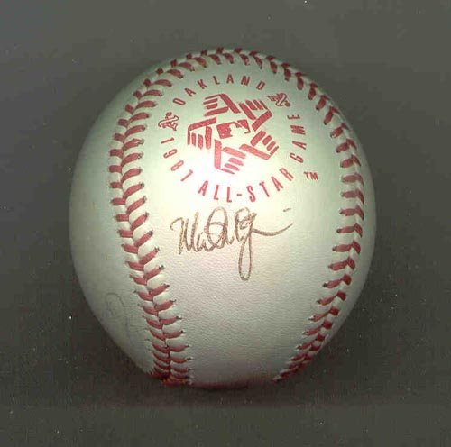 1023: MARK McGWIRE  SIGNED 1987 ALL-STAR BALL - PSA/DNA