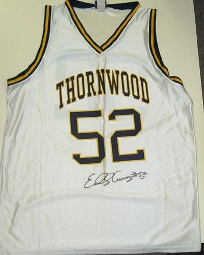 1103: EDDY CURRY SIGNED JERSEY - SPORTS CENTRE COA