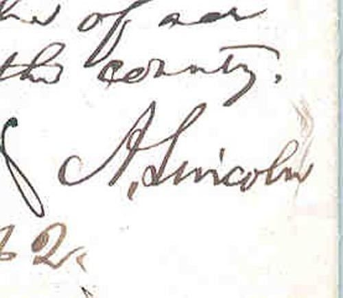 701: ABRAHAM LINCOLN AES AS PRESIDENT - SIGNED