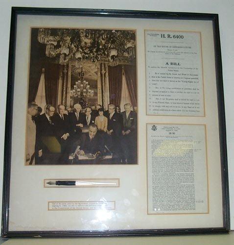 703: (LYNDON B. JOHNSON) PRESIDENTIAL BILL SIGNING PEN