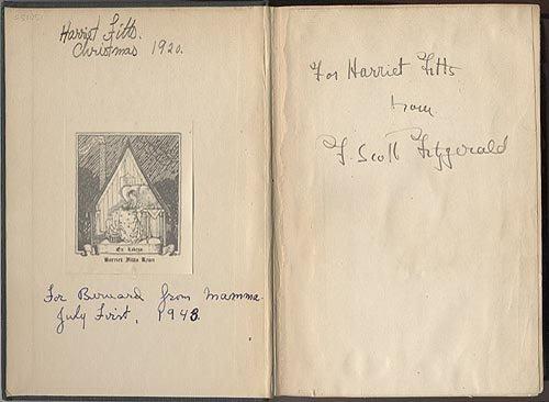 704: F. SCOTT FITZGERALD SIGNED BOOK - AUTHOR