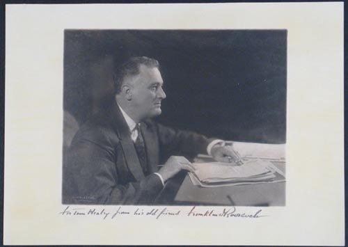 2009: FRANKLIN D. ROOSEVELT PHOTO SIGNED AS PRESIDENT
