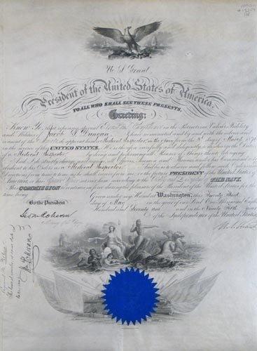 2022: ULYSSES S. GRANT DOCUMENT SIGNED AS PRESIDENT