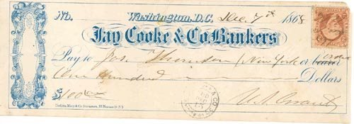 2023: U.S. GRANT TWICE SIGNED CHECK AS PRESIDENT-ELECT