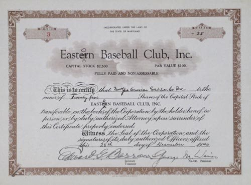 2207: ED BARROW & GEORGE WEISS DOCUMENT SIGNED - PSA